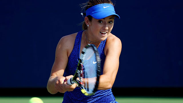 CiCi Bellis becomes the youngest player to win a US Open match since 1996. (Getty Images)