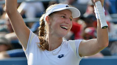 US Open: Bouchard falls