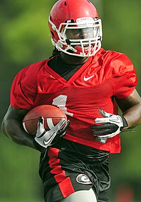 Georgia freshman Isaiah Crowell will be the Bulldogs' likely starter in the opener against Boise State. (AP)