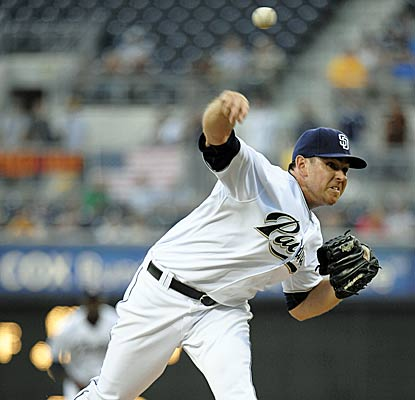 Tim Stauffer rebounds from his last start by striking out five over seven effective innings.   (Getty Images)