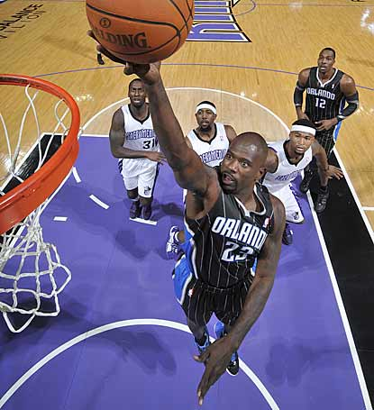 Orlando veteran Jason Richardson glides in for two of his team-high 22 points.  (Getty Images)