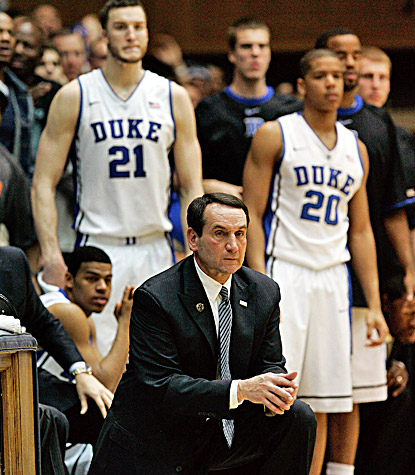 Mike Krzyzewski's fourth-ranked Blue Devils fall short and have their seven-game winning streak snapped. (US Presswire)