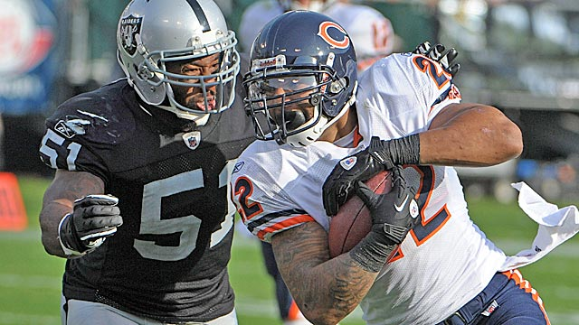 Bears running back Matt Forte has carried the ball 1,237 times in four years. (US Presswire)